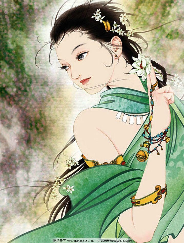 工笔画欣赏-美女 工笔画欣赏美女 古代美女 文化艺术 绘画书法