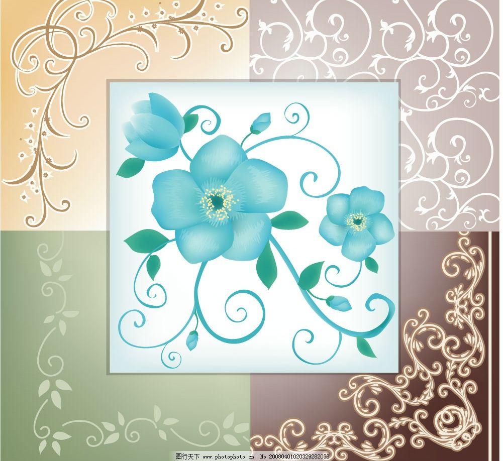 植物花边边框 潮流矢量花纹 花朵 时尚花边 韩国素材 花纹花边