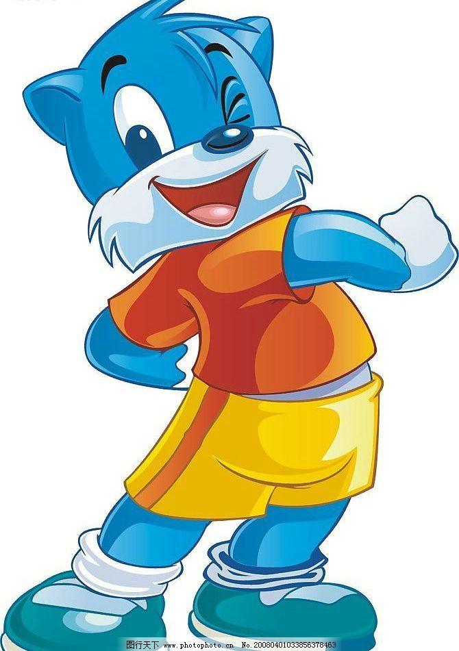 蓝猫系列 矢量 蓝猫 卡通 矢量人物 儿童幼儿 矢量图库   cdr