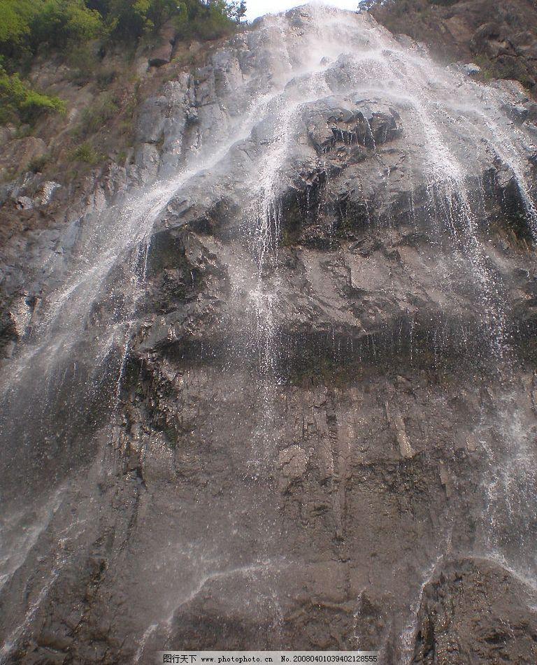风景 瀑布 山石 建筑园林 建筑摄影 摄影图库