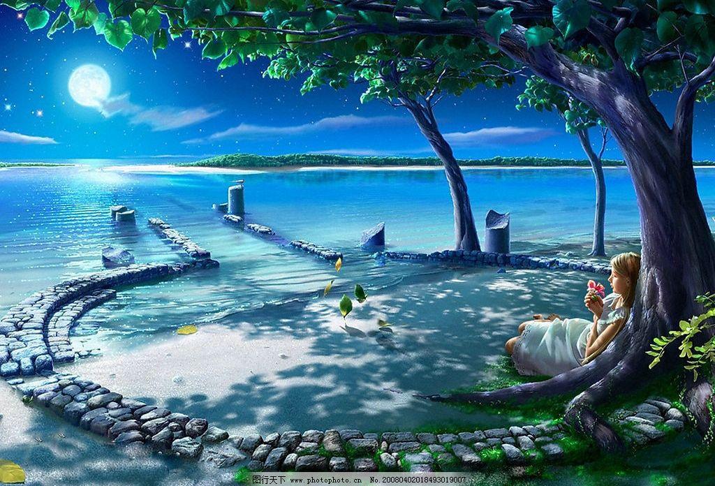 夜空 星座 动漫动画 风景漫画 设计图库 72 jpg
