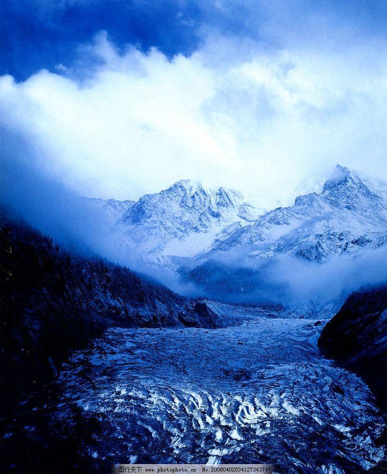 冰舌图片_自然风景_旅游摄影_图行天下图库