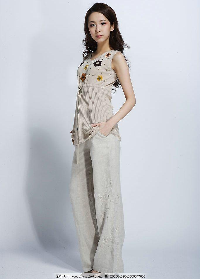 服装 模特 美女 毛织 衣服 其他 图片素材 高精时尚牛仔服饰--漂亮mm