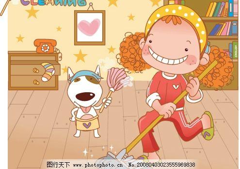韩国可爱卡通小女孩12图片