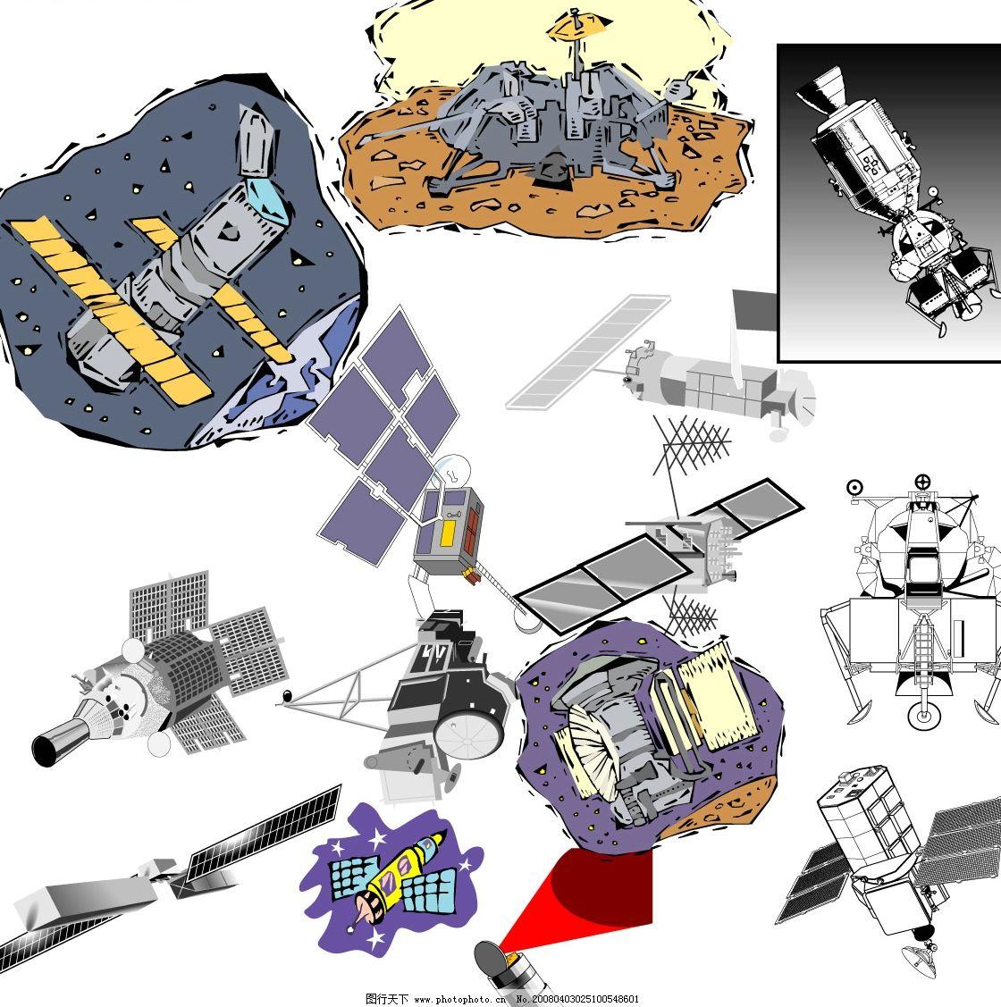 卫星简笔画步骤