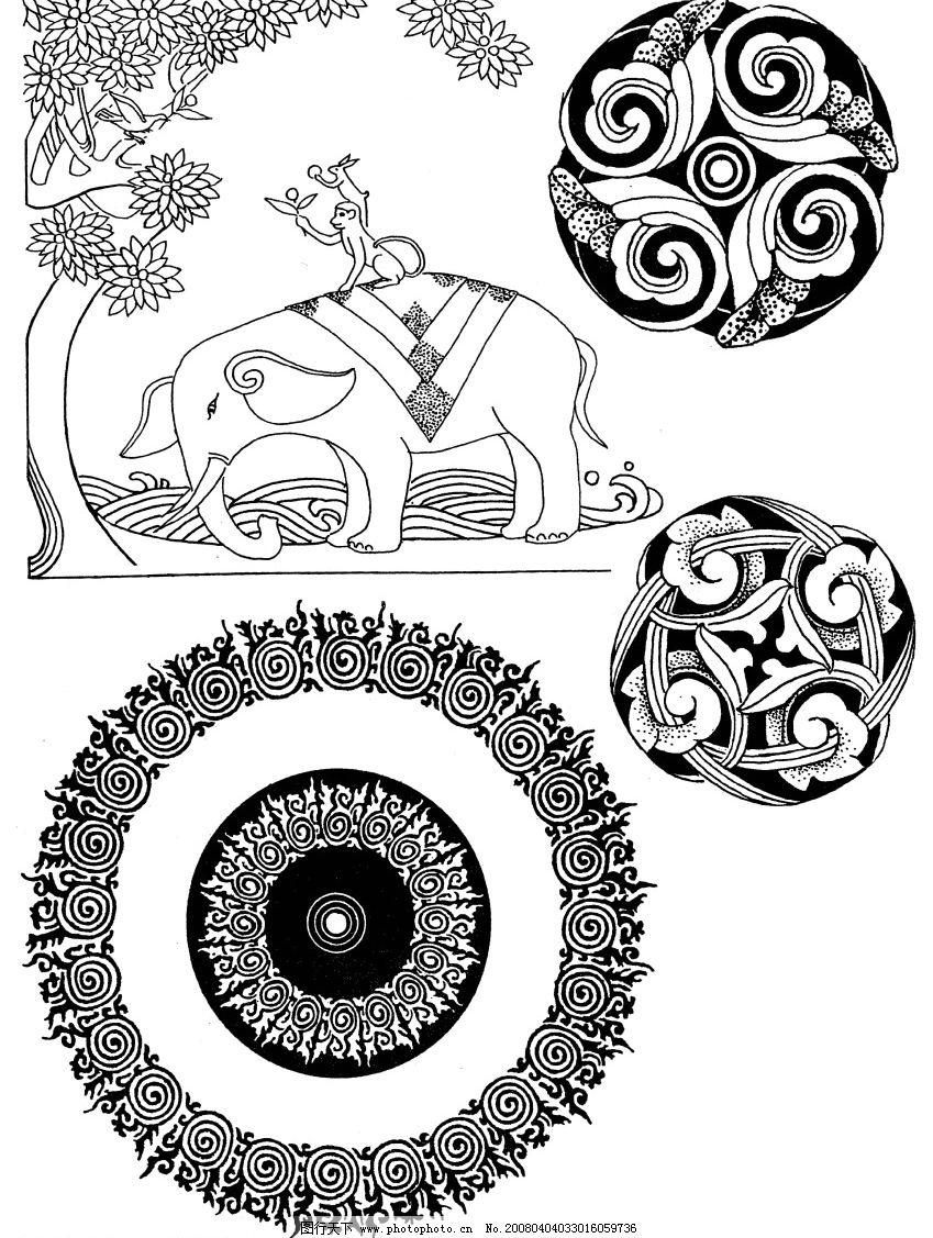 藏族花纹图片