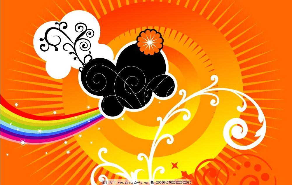 矢量背景-色彩活泼鲜艳!图片