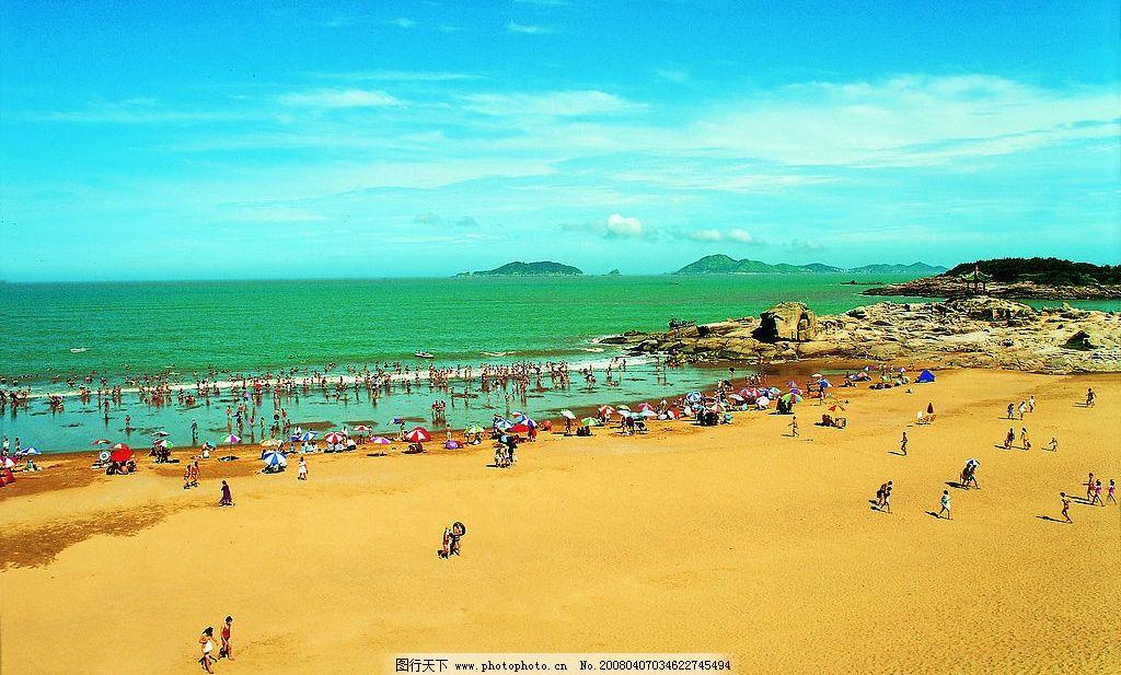 普陀山 百步沙 度假 沙滩 游泳 自然景观 风景名胜 普陀山掠影 摄影