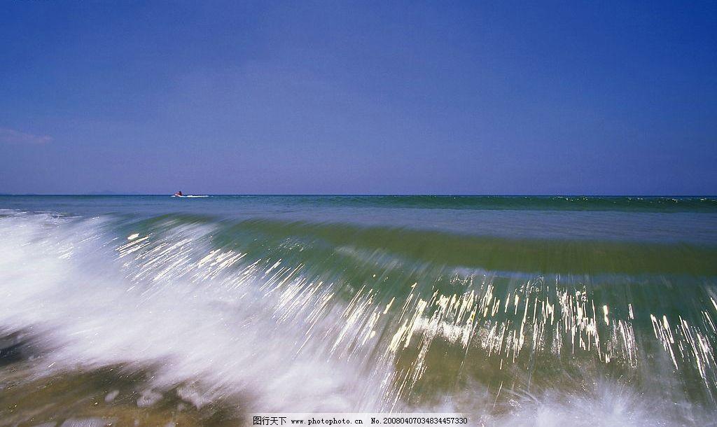 海浪 大海 蓝天 自然景观 自然风景 设计用素材库 摄影图库 72 jpg