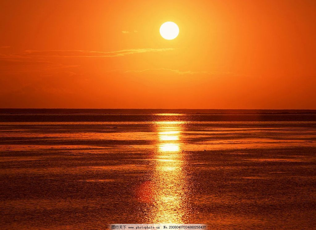 日出 风景日出 平静的海面 彩云 自然景观 自然风景 风景 摄影图库 35