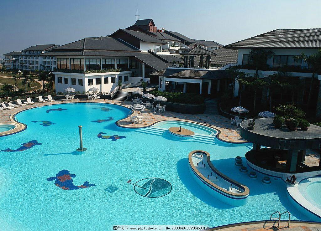 私人游泳池 别墅 度假村 生活百科 家居生活 摄影图库 建筑园林