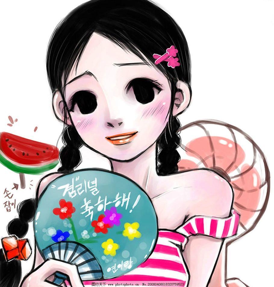 韩国咔咿哇可爱女孩图片