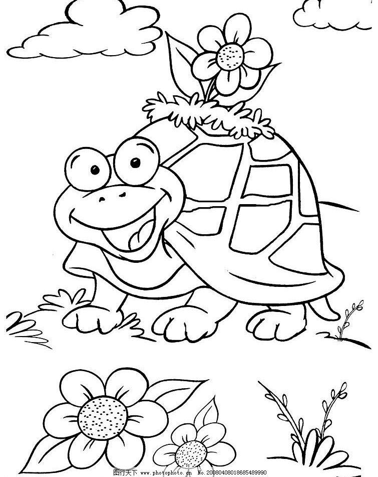 乌龟 动物 卡通 益虫 线条图 漫画 动漫动画 其他 设计图库 800 jpg