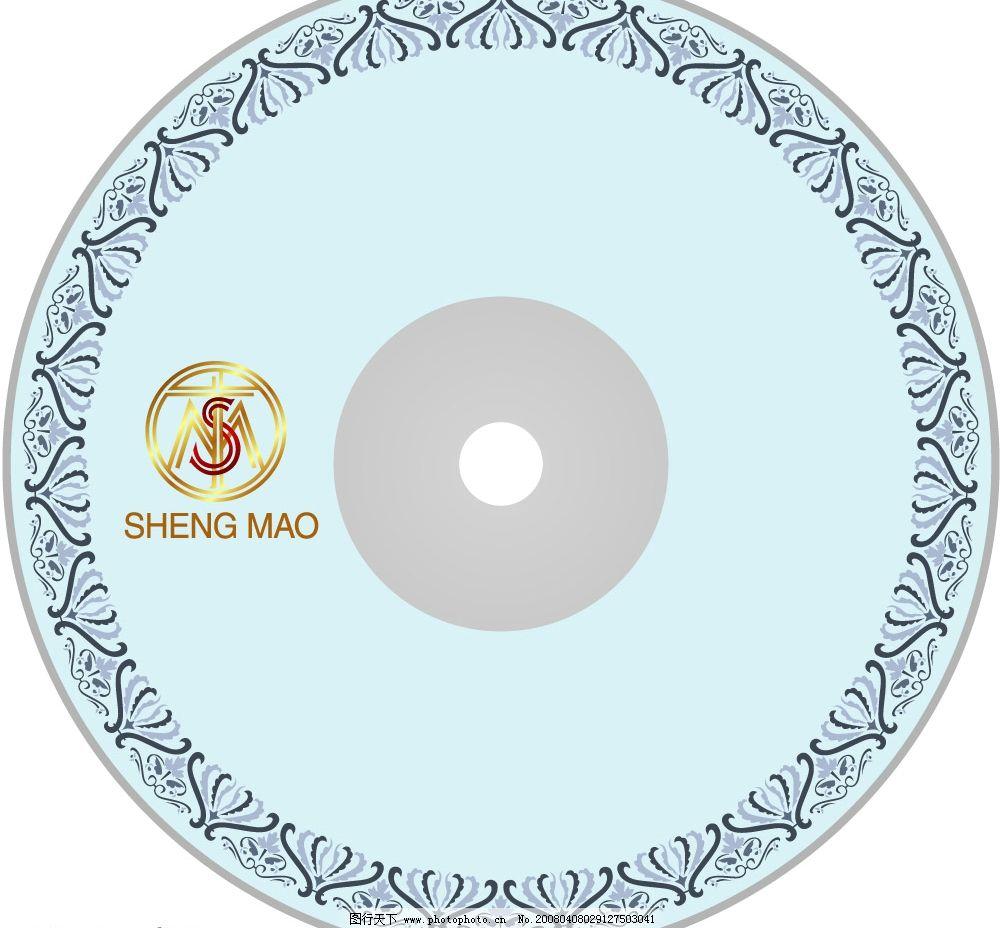 光盘贴设计2 花纹 标志 光盘 广告设计 包装设计 矢量图库   ai