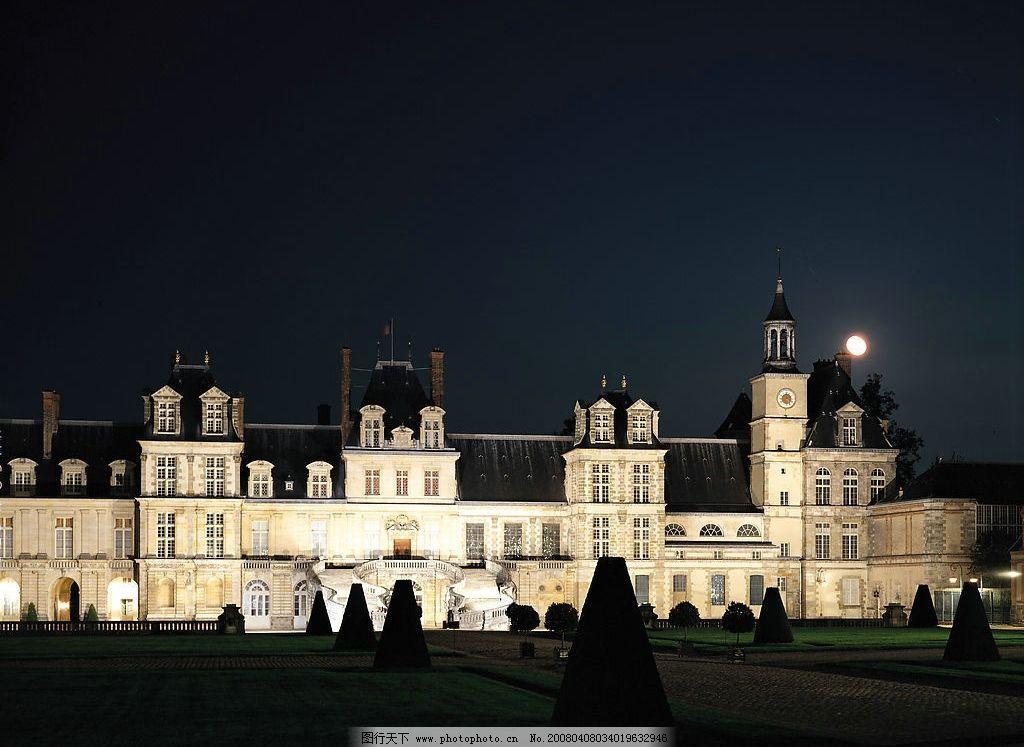 夜色古堡 德国 风景 异国风情 城市 旅游摄影 国外旅游 摄影图库 350