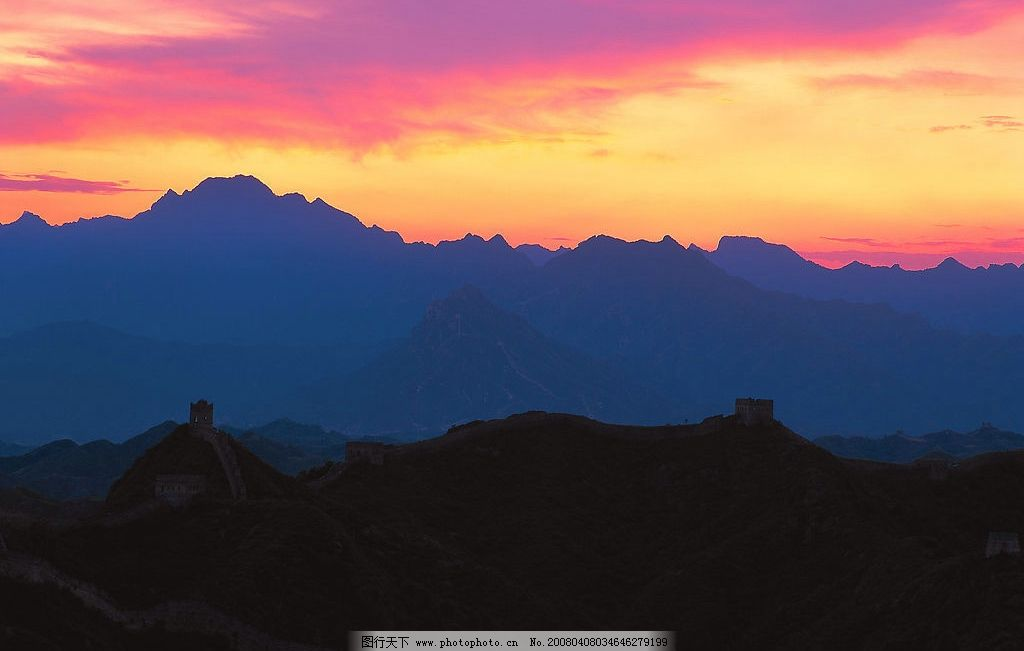 山峰 长城图片