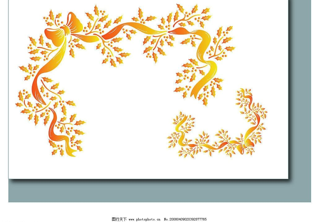 花卉花边 底纹边框 花纹花边 花卉-花纹 矢量图库   ai
