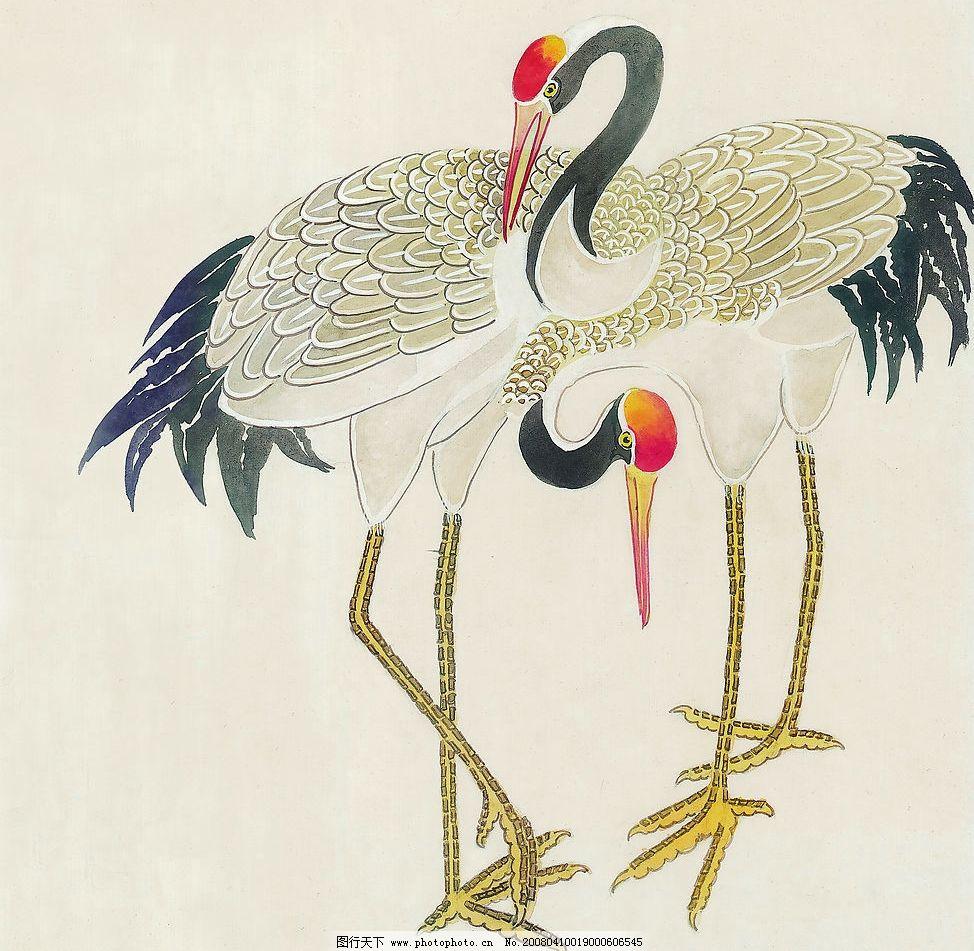 双鹤 仙鹤 国画 文化艺术 其他 绘画书法