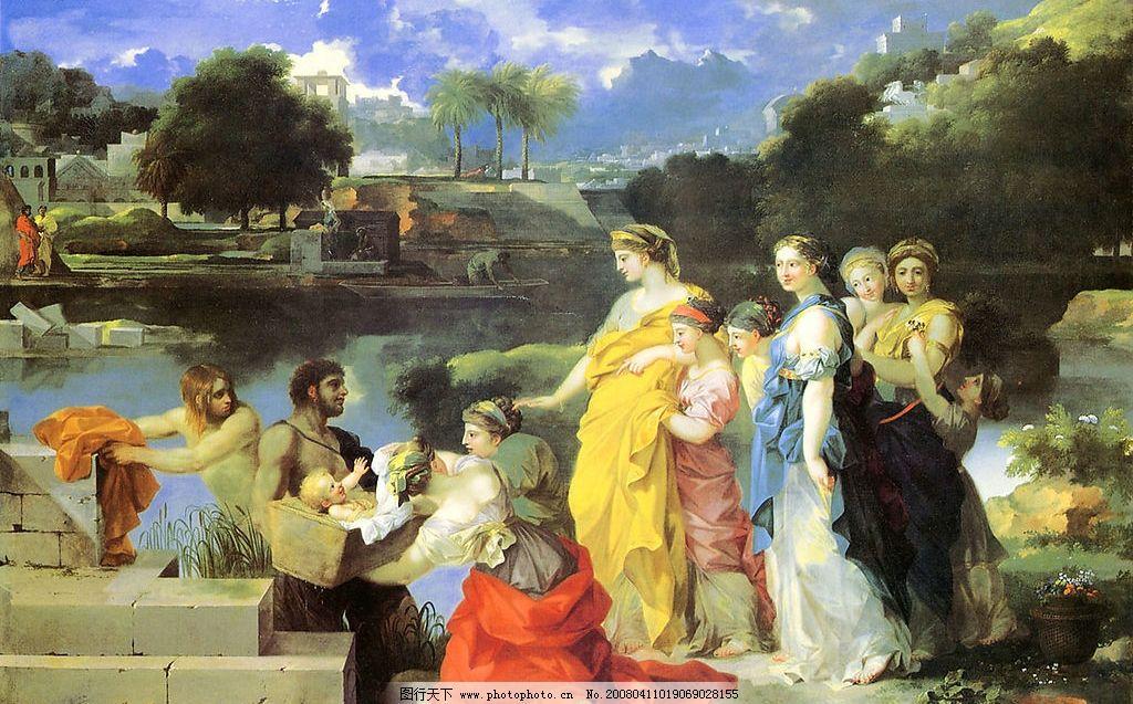 世界名画 欧洲古典人物油画图片