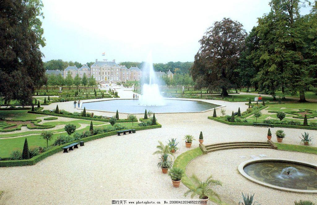 外国风情 外国风景 外国名胜 城堡 喷水池 园林 绿化 自然景观 风景