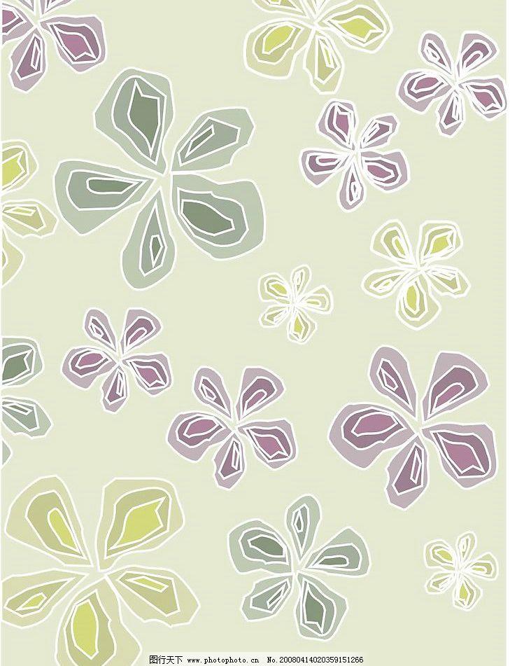 花朵底纹 底纹边框 花纹花边 矢量线图 矢量图库   cdr