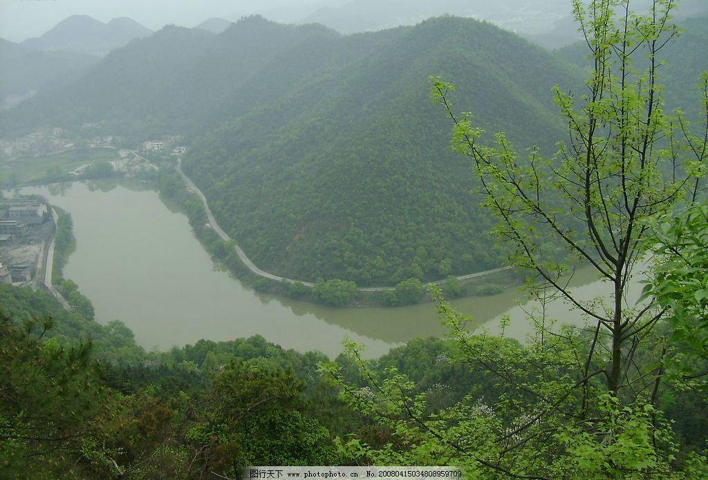 春光无限好 河流 春天 绿色 九道湾 自然景观 自然风景 摄影图库 200