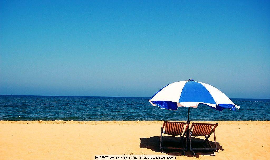 海边风景 海,沙滩,伞,椅子 自然景观 其他 风景 摄影图库 300 jpg
