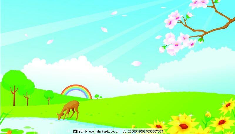 春天背景 花纹图片