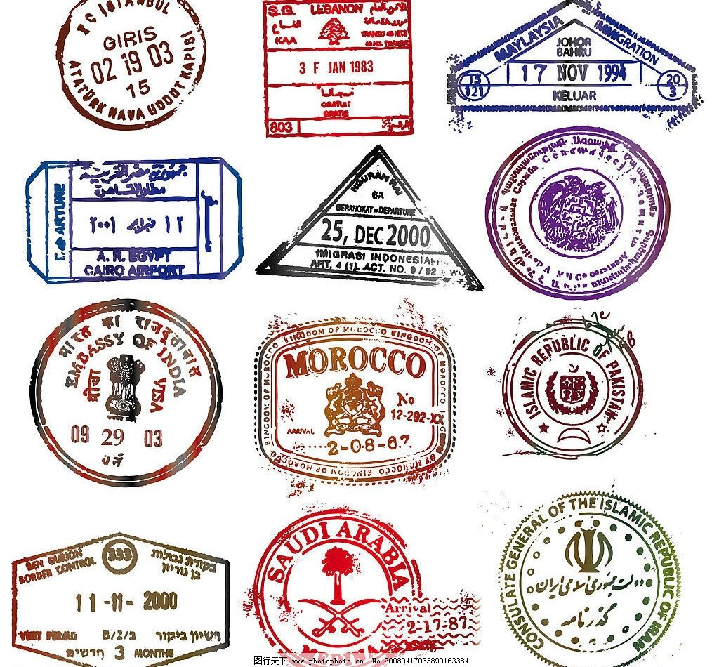 邮戳素材 欧式邮戳 复古邮戳 其他矢量 矢量素材 矢量图库   eps