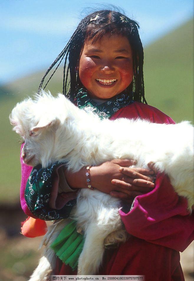 藏族儿童图片