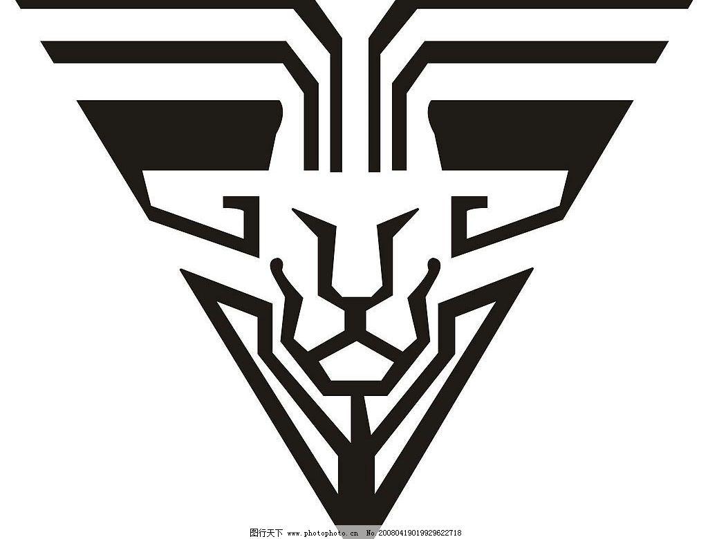 狮子 矢量标志 狮子头 标识标志图标 矢量图库