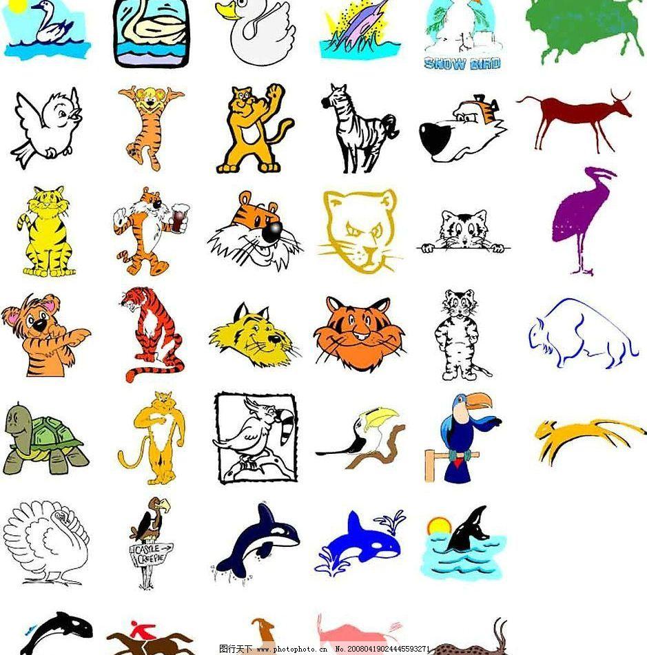 卡通动物5图片