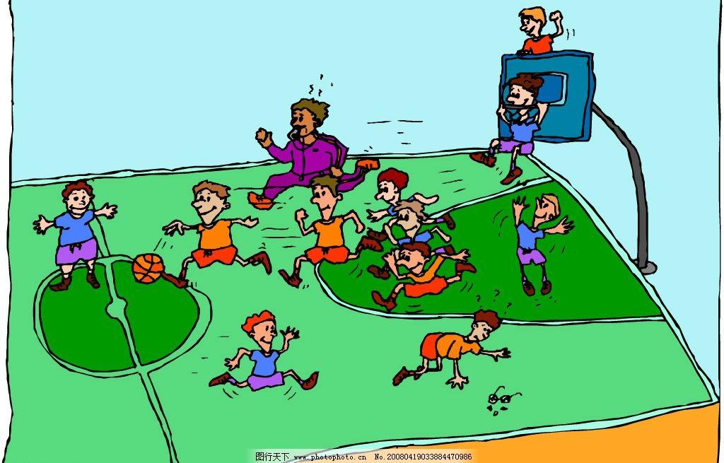 精品卡通篮球矢量图图片
