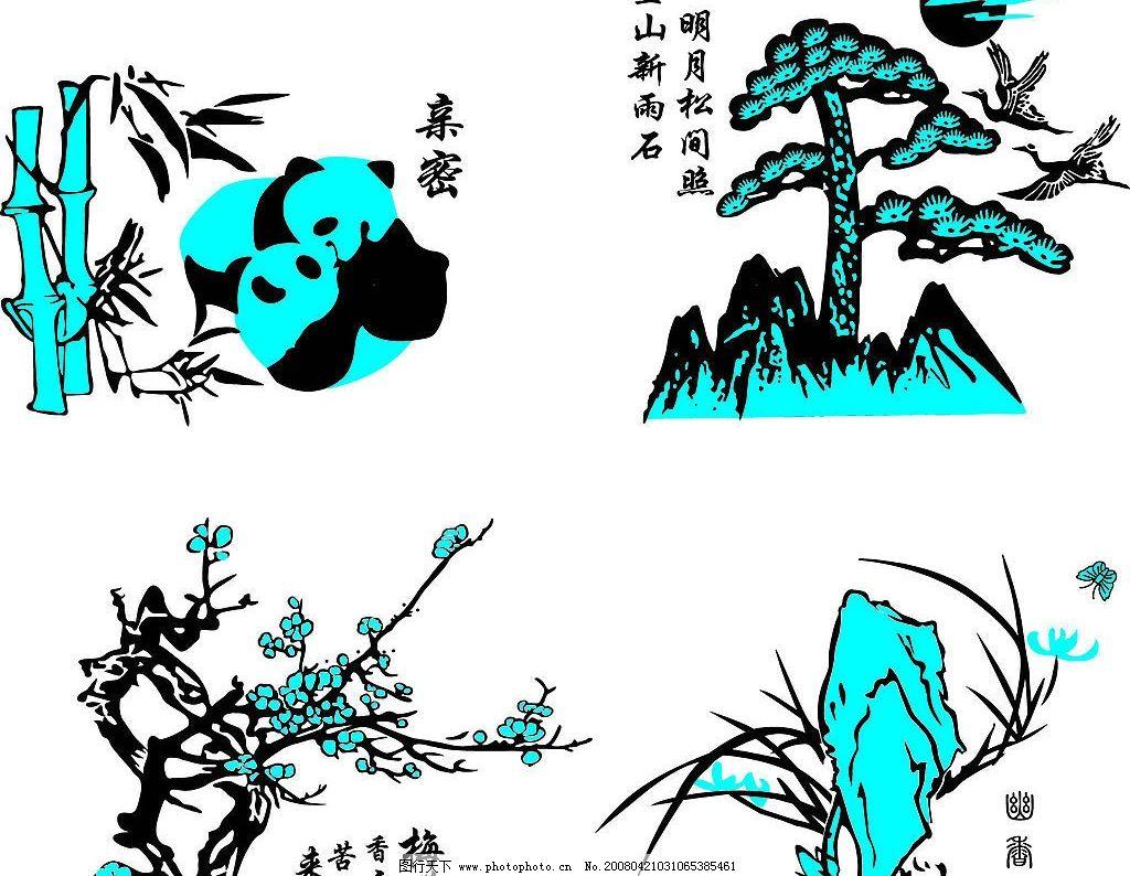 玻璃花纸图案 广告设计 其他设计 玻璃花纸图案(ai) 矢量图库   ai