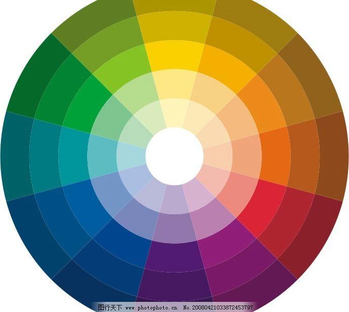 三原色轮廓 配色 色盘 其他矢量 矢量素材 矢量图库