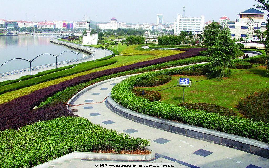 岳阳南湖广场一角 南湖 自然景观 自然风景 摄影图库 300 jpg