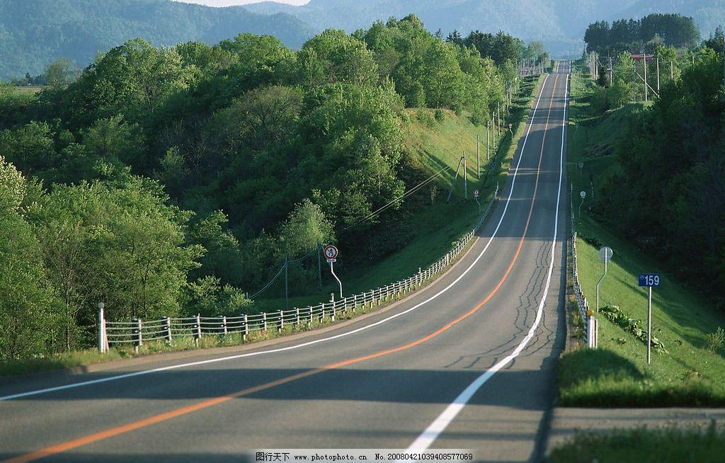道路 素材 清晰 城市道路 树木 风景 道路景观 建筑园林 建筑摄影