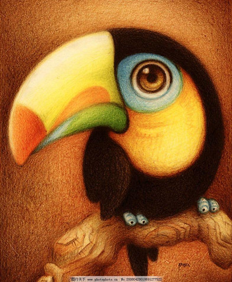 小啄木鸟 卡通动物小啄木鸟 动漫动画