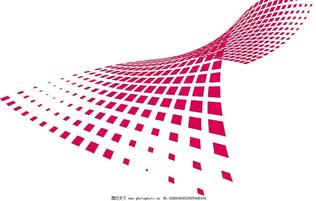 扭曲的矢量方格图片