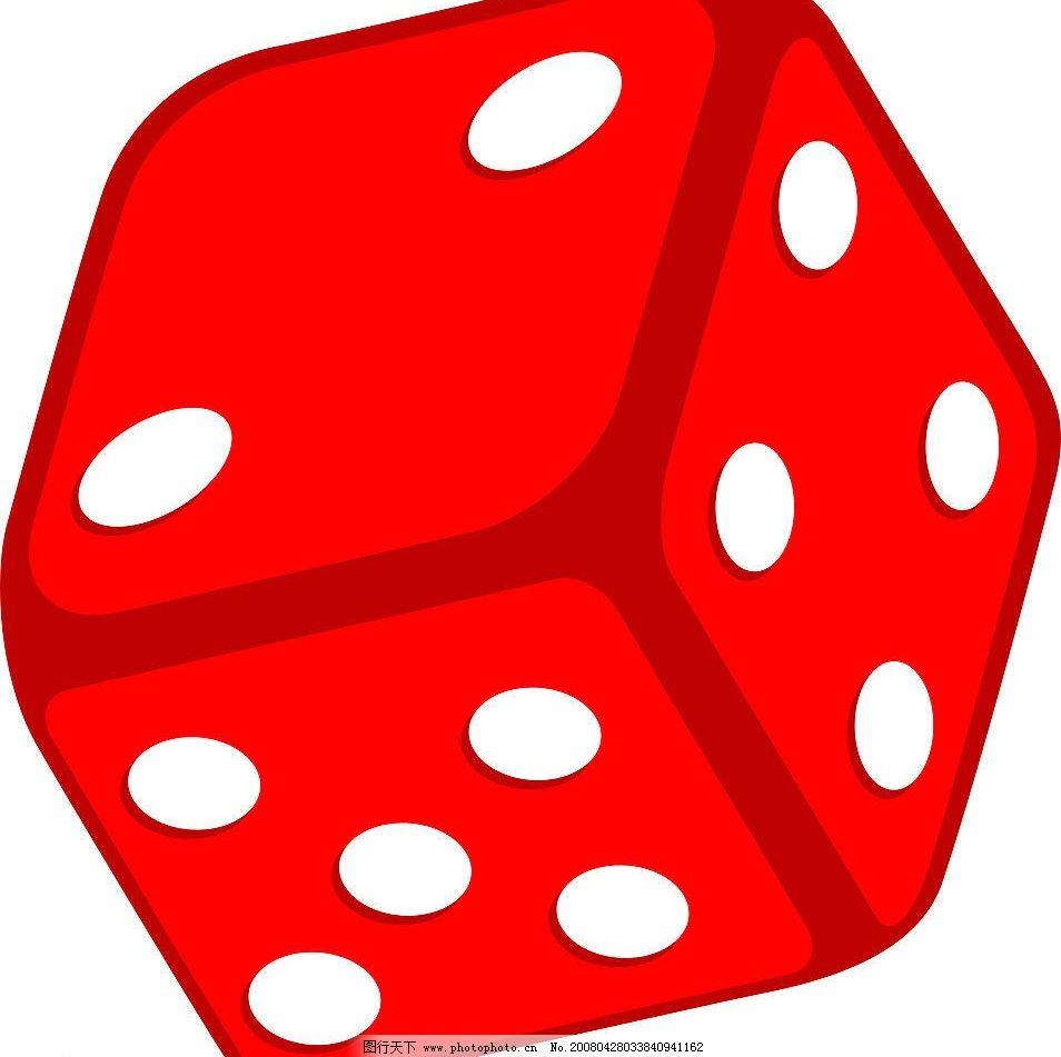 骰子 红色红色骰子游戏玩游戏数字 其他矢量 矢量素材 矢量图库