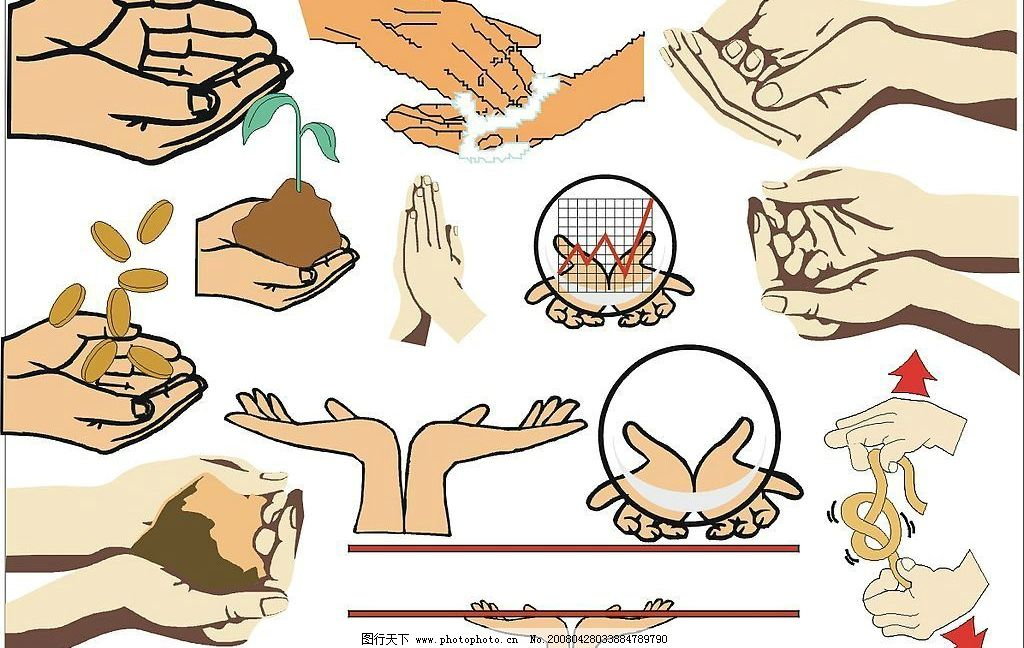 人物各种手势1图片
