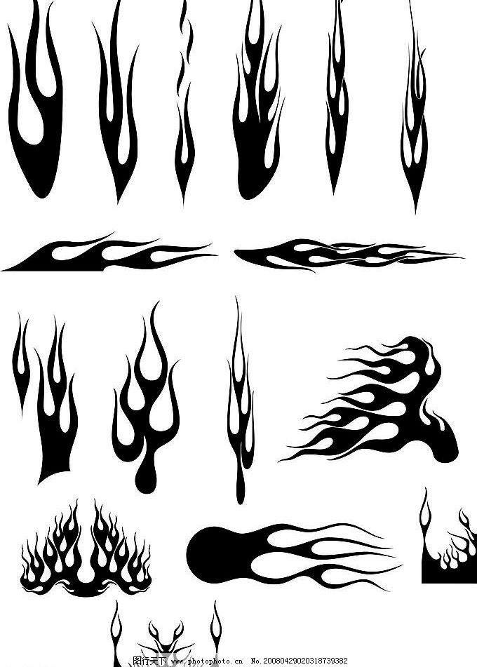火焰 矢量火焰图形 古典花纹 底纹 底纹边框 花纹花边 花卉-花纹 矢量