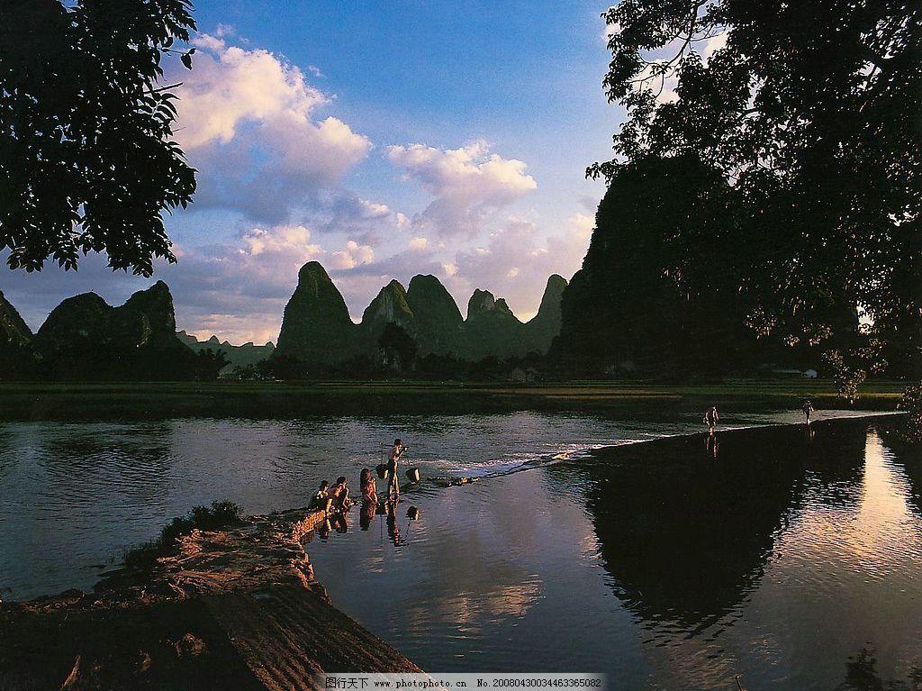 桂林山水--阳朔 美丽桂林 自然景观 山水风景 桂林山水 摄影图库 300