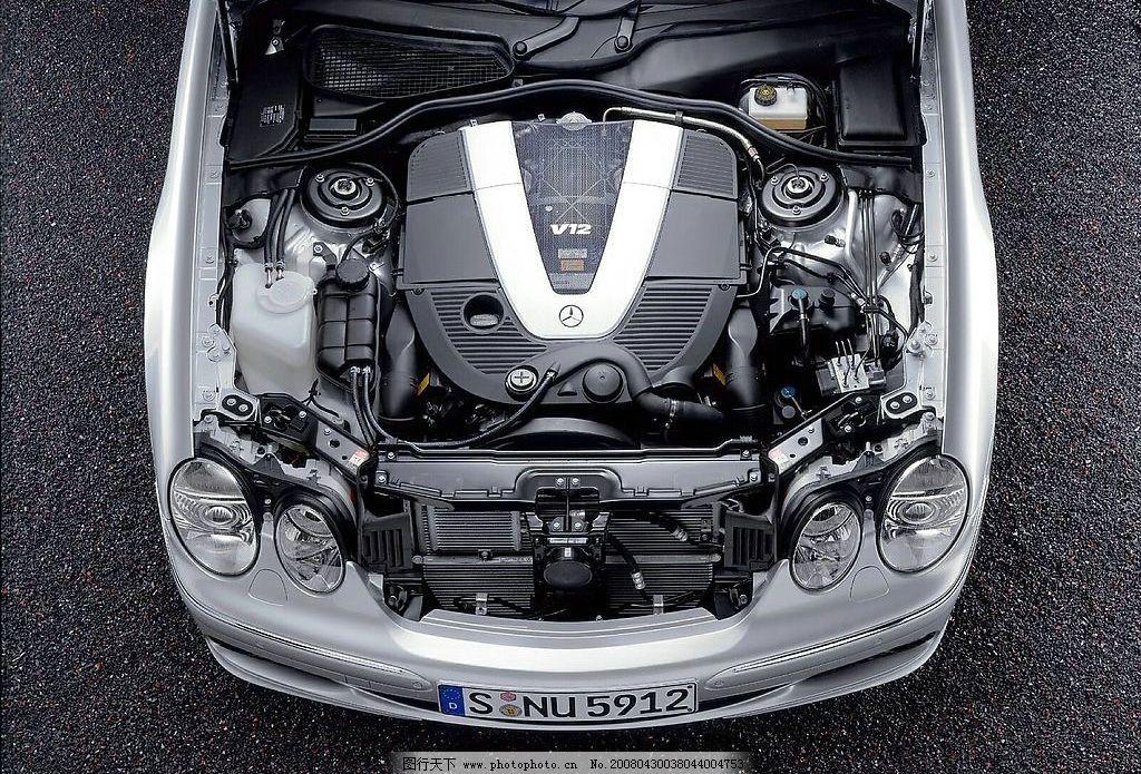 奔驰车 特写 跑车 头部特效 豪华车 汽车 散热器 发动机 车头 酷车