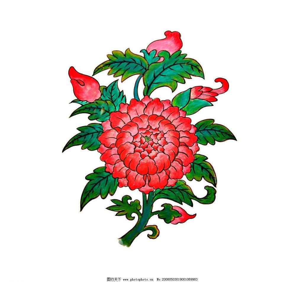 水彩画 工笔画 绘画书法 美术绘画 国画 水彩系列 牡丹花 文化艺术