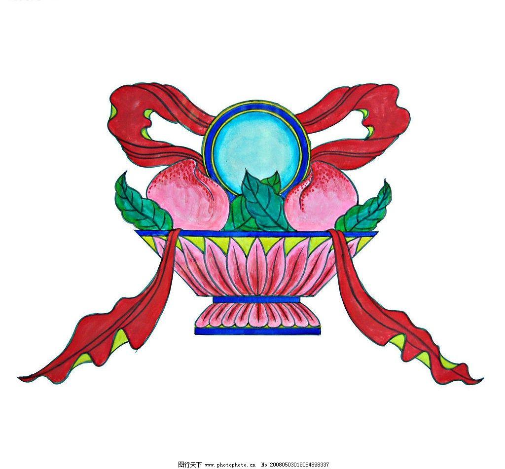 工笔画 绘画书法 美术绘画 国画 水彩系列 箩筐 蜜桃 文化艺术 设计