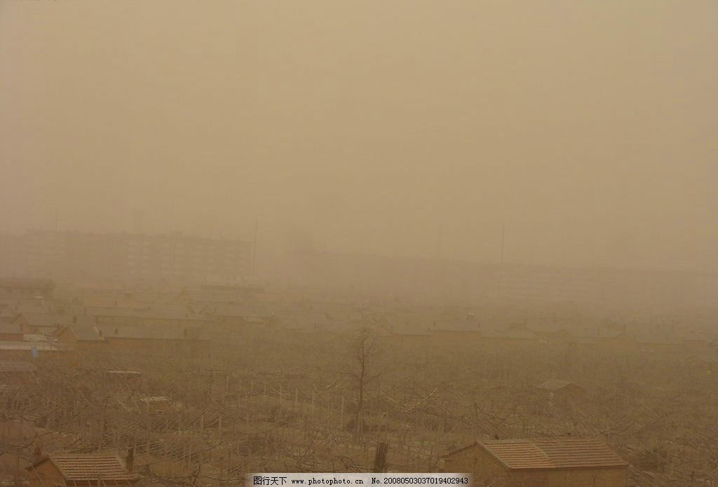 沙尘天 清晨 风沙 生活百科 生活素材 塞外 摄影图库 72 jpg