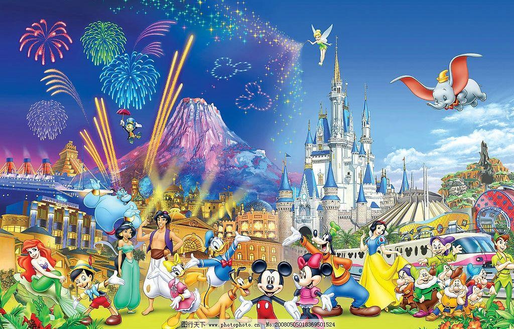 迪斯尼乐园 迪斯尼 乐园 动漫动画 动漫人物 设计图库 60 jpg