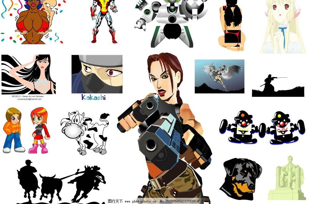 动画卡通人物,动物矢量素材图片