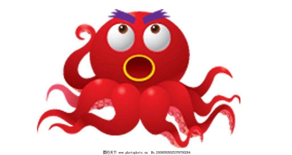 章鱼 海洋生物 动物 矢量素材 生物世界 矢量图库   ai